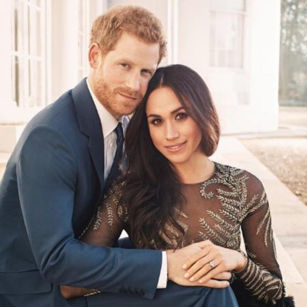 Prince Harry and Meghan Markle by Alex Lubomirski