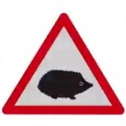 A new road sign featuring a picture of a hedgehog will appear on UK roads