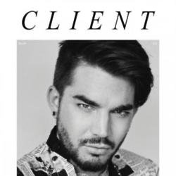 Adam Lambert on Client Magazine cover
