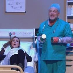 John Thomson and Catherine Tyldesley on Celebrity Juice: The Power Cut Special