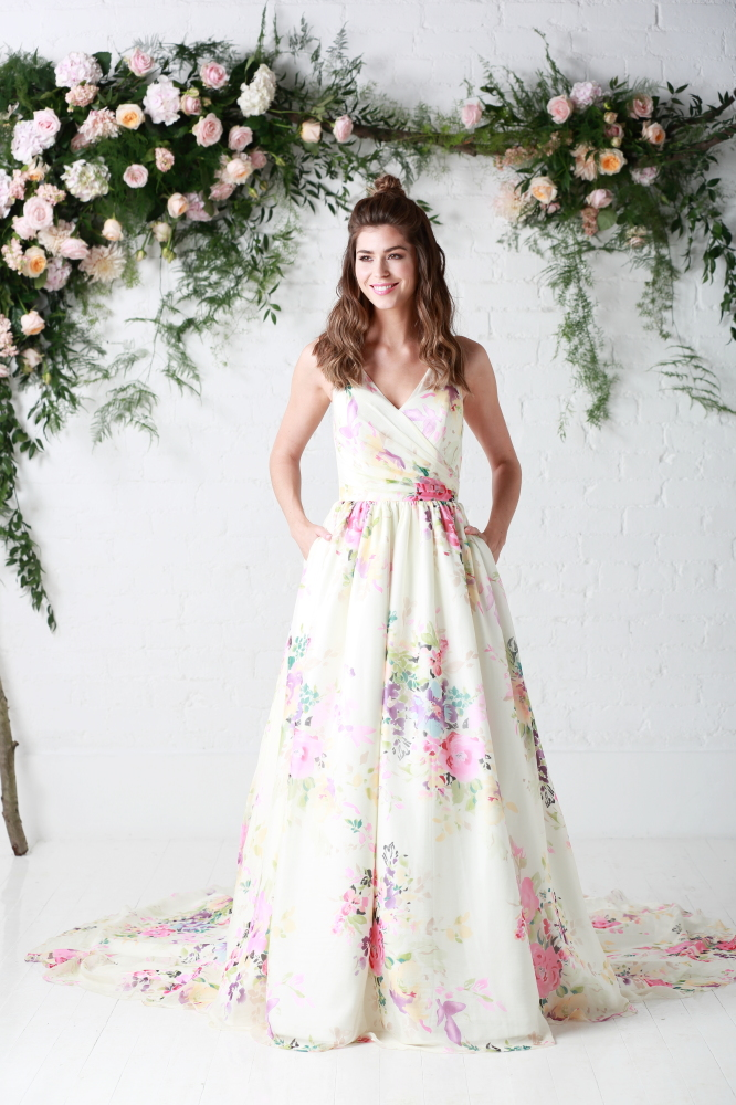 10 reasons to choose a floral wedding dress floral bridal gowns untamed love by charlotte balbier junglespirit Gallery