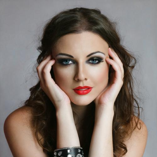 Heavy makeup